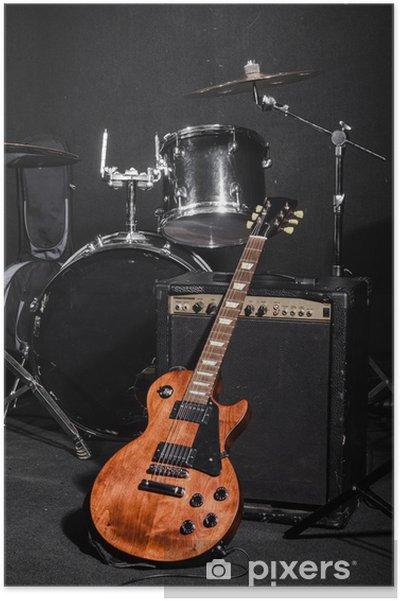 Poster Définir des instruments de musique pendant le concert - Musique