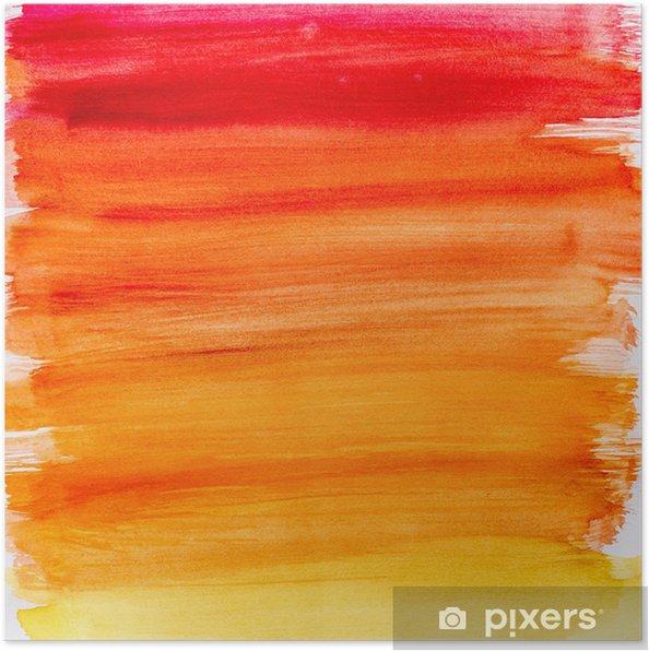 Poster Dégradé fond d\'aquarelle dans des couleurs chaudes • Pixers ...