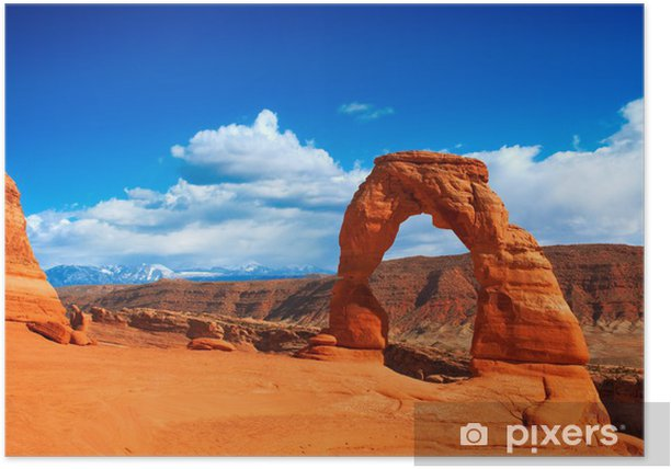 Delicate Arch In Arches National Park Utah Poster