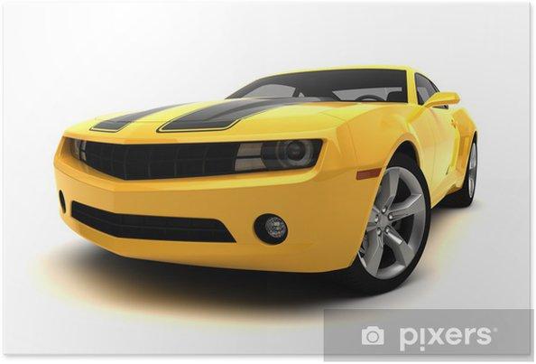 Póster Deportes coche - coche de carreras - Vinilo para pared