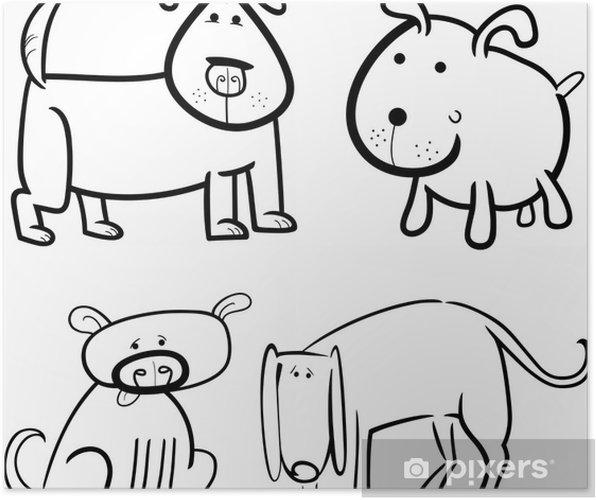 Poster des chiens ou des chiots colorier pixers nous vivons pour changer - Chiot a colorier ...