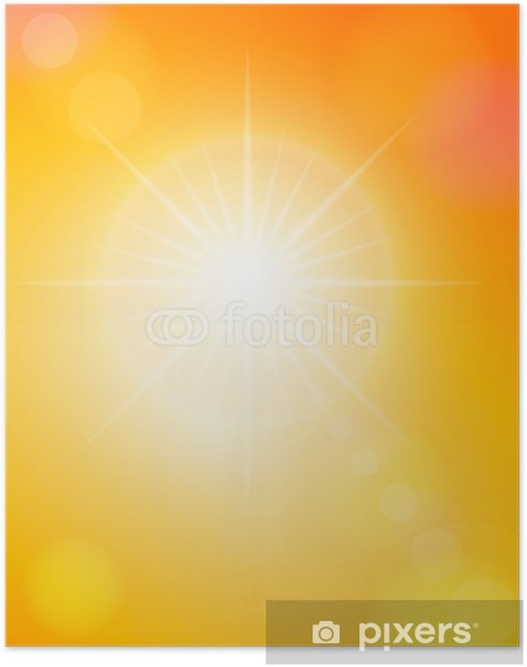 Poster Des taches solaires et le ciel orange - Ciel