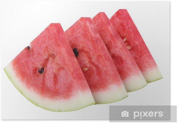 Poster Des tranches de pastèque .. - Fruits