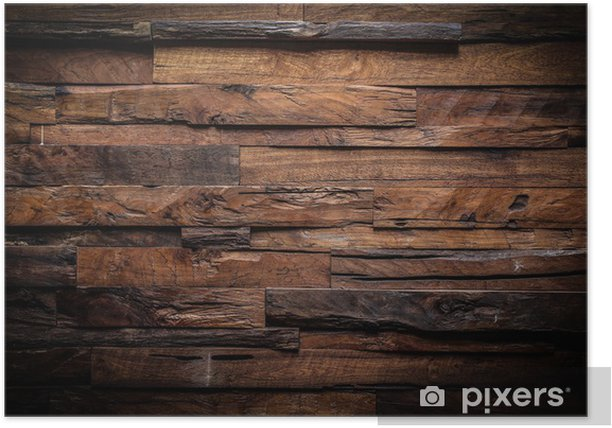design of dark wood background Poster - Themes