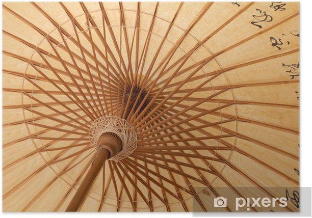Poster Détail d'un parapluie de papier traditionnelle - Textures
