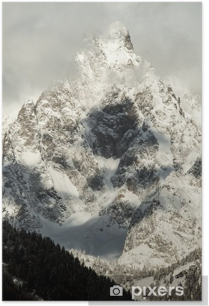 detail of Massif Mont Blanc view from courmayeur Poster - Seasons