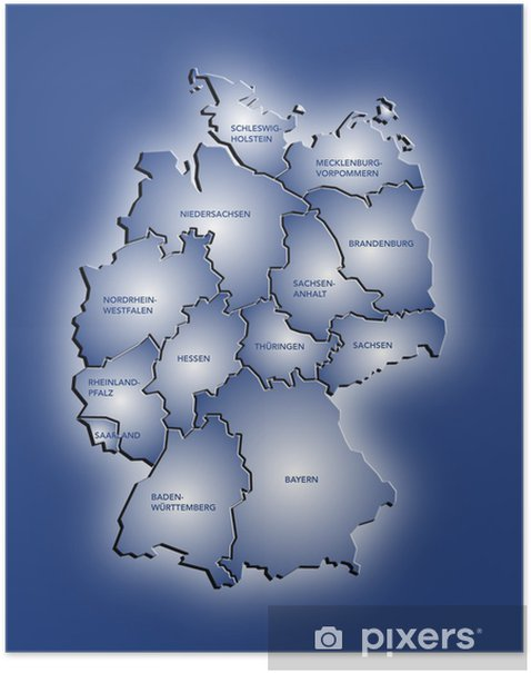 Deutschlandkarte Poster Pixers We Live To Change