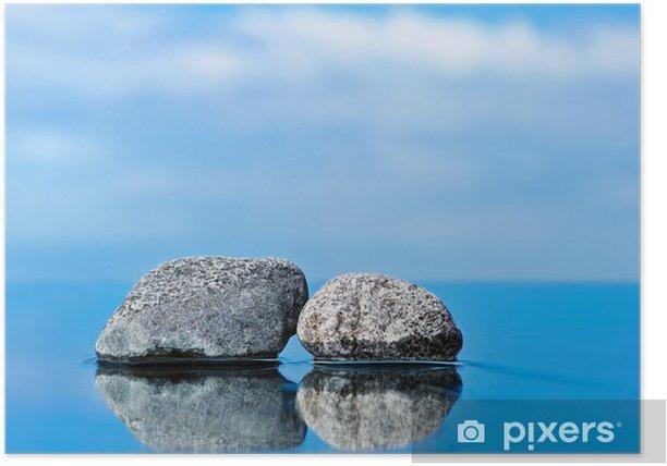 Poster Deux pierres d'entrée - Ciel
