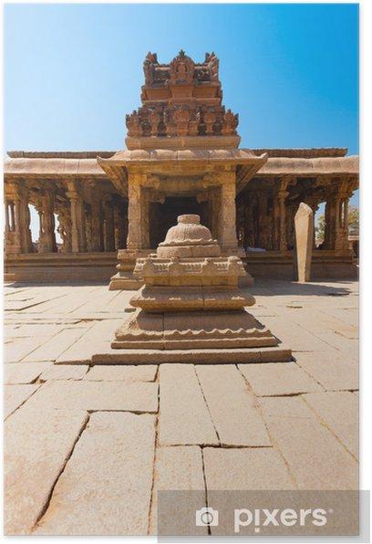 Poster Devant la cour de pierre Sri Krishna Temple Hampi - Asie