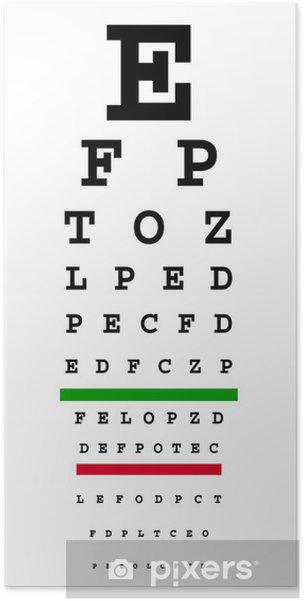 Poster Diagramme d'oeil - Santé et médecine