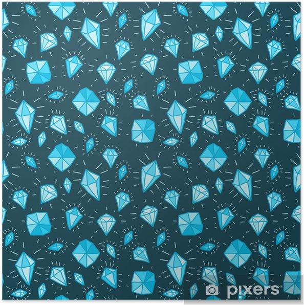 Diamond background - vector illustration Poster