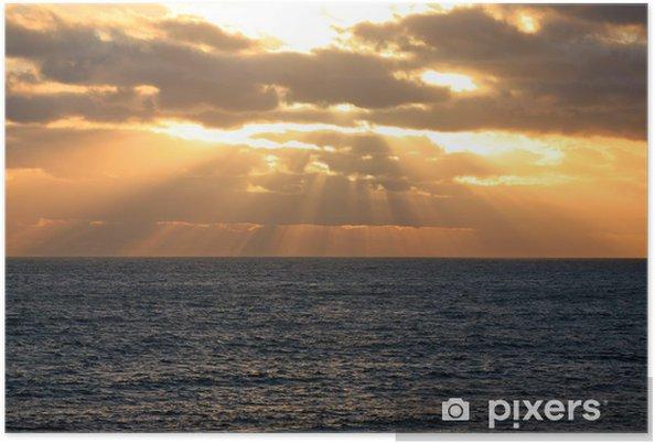 Poster Die Sonne geht über dem Meer unter Australien_07_1181 - Temps