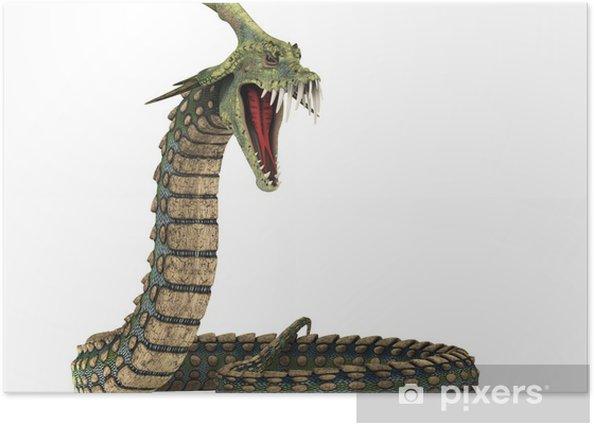 Poster Dinosaure anaconda attaque - Sticker mural