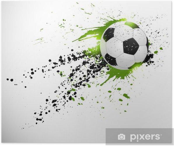 Póster Diseño del fútbol - Temas