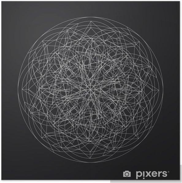 Póster Diseño geométrico pattern_vector_line element_star - Recursos gráficos