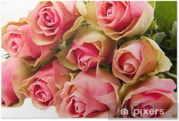 Poster Dit rose bouquet - Thèmes