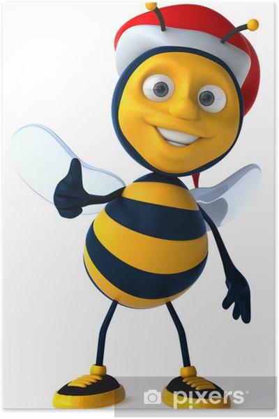 Póster Diversión abeja - Señales y símbolos
