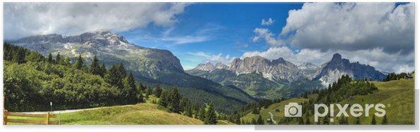 Poster Dolomiti - Alta Badia panorama - Thema's
