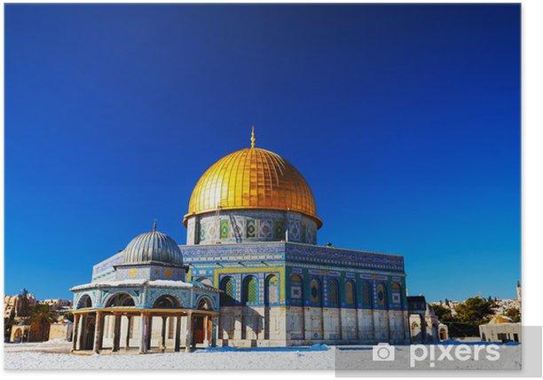 Poster Dôme du Rocher, la mosquée de Jérusalem - Moyen Orient