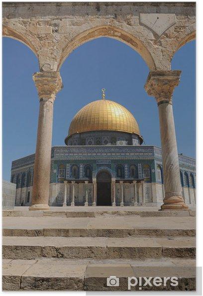 Poster Dome du rocher - Moyen Orient