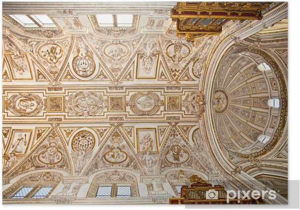 Dome of Great Mosque and Cathedral Mezquita in Cordoba, Spain. Poster - Europe