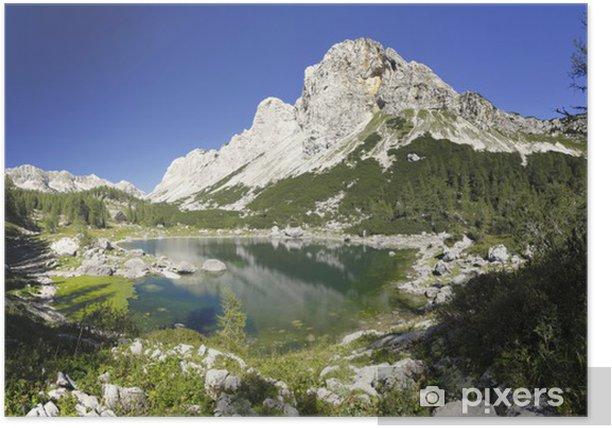Poster Double lac et la Vallée des Sept lacs de Triglav et les Alpes juliennes - Lacs