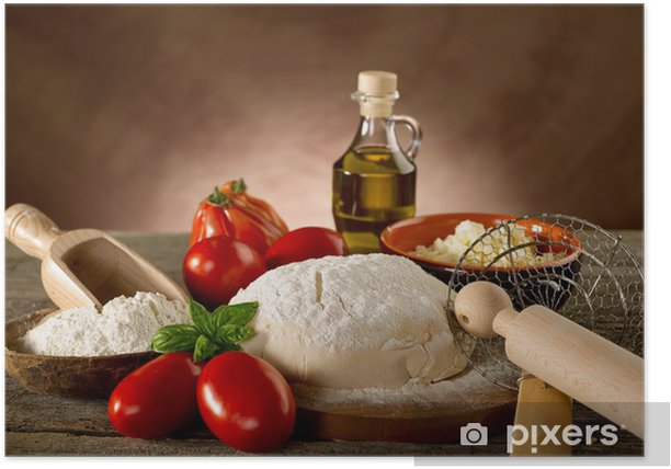 dough for pizza - preparazione pizza Poster - Themes