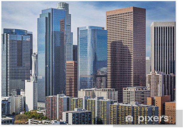 Poster Downtown Los Angeles, en Californie Cityscape - Thèmes