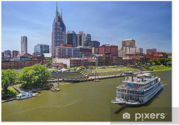 Poster Downtown Nashville - Amérique