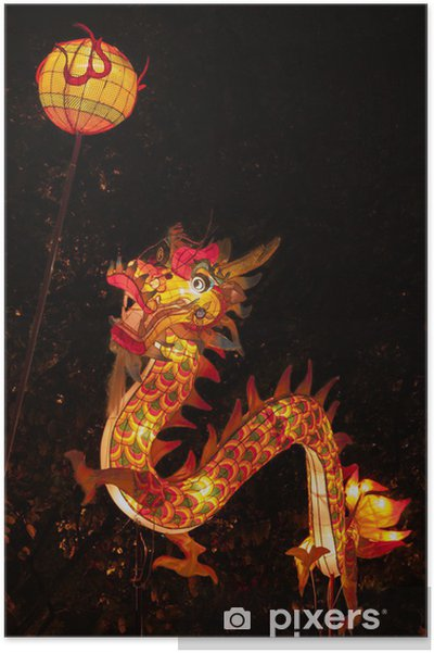 Dragon Lantern for Chinese New Year Celebration Poster - Themes