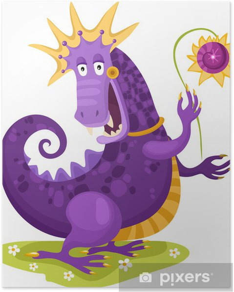 Poster Dragon - Sticker mural