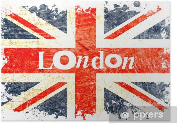 drapeau anglais decoupe london Poster - National flags