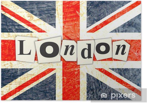 DRAPEAU ANGLAIS LONDON Poster - National flags