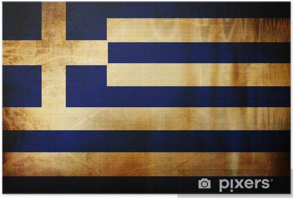 Poster Drapeau grec -