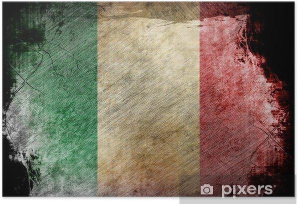 Poster Drapeau italien - Arrière plans