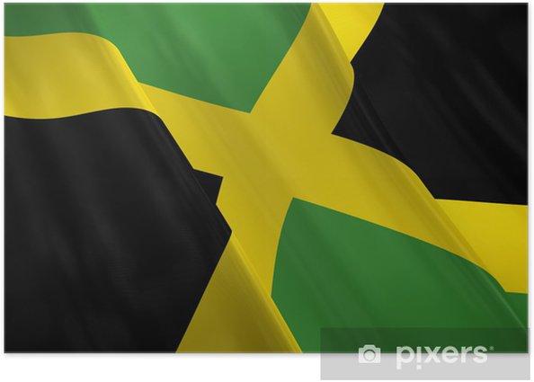 Poster Drapeau jamaica - Amérique