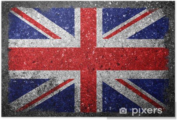 Poster Drapeau Royaume-Uni peinte sur le béton - Europe