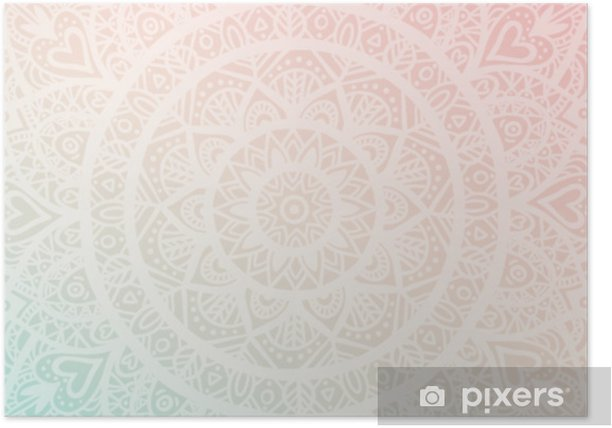 Dreamy Gradient Wallpaper With Mandala Pattern Vector Background For Yoga Meditation Poster Poster Pixers We Live To Change