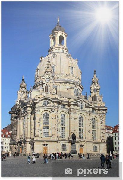 Poster Dresde - Frauenkirche - Bâtiments publics