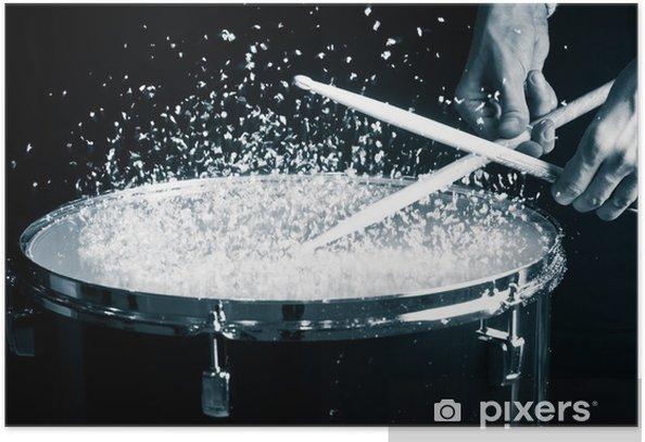 Poster Drum, hand en stokken - Thema's