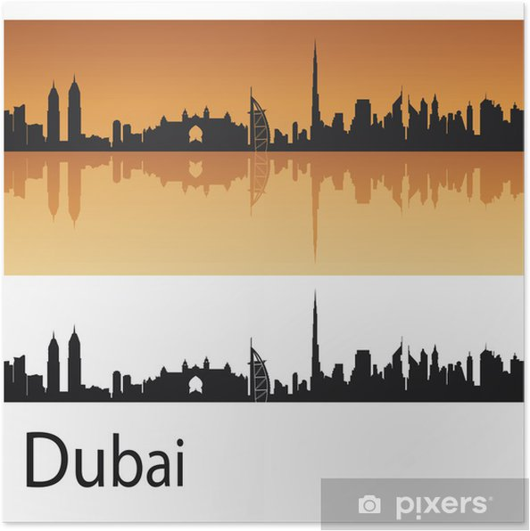 Poster Dubai skyline - Moyen Orient