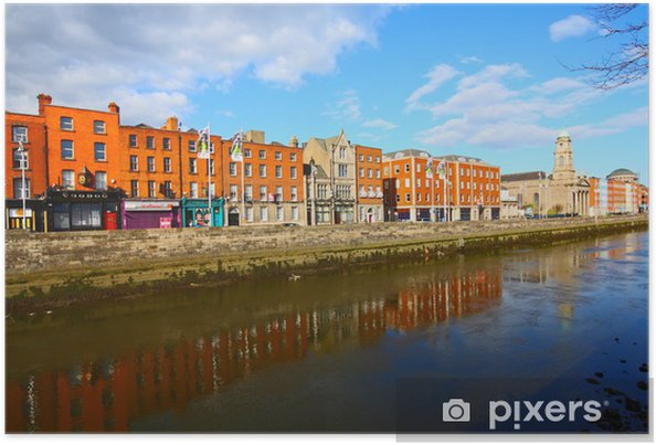 Poster Dublin et la Liffey - Europe