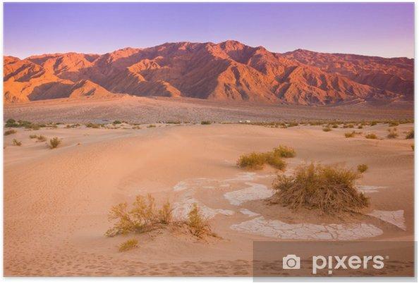 Póster Dunas de Mesquite, Valle de la Muerte de California - América