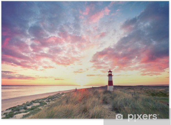 d nen am leuchtturm sylt poster pixers we live to change. Black Bedroom Furniture Sets. Home Design Ideas