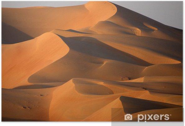Dunes in Abu dhabi Poster - Desert