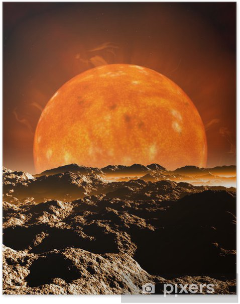 Dying Red Giant Sun Poster - Outer Space
