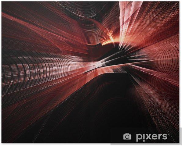 Poster Dynamique de fond numérique rouge et noir - Arrière plans