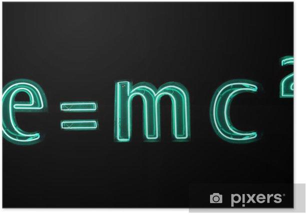 Poster E = mc2 - Sciences fondamentales et appliquées