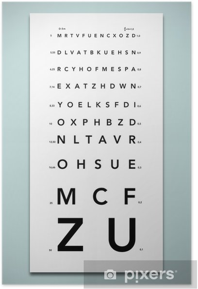 Echelle de Monoyer Poster - iStaging