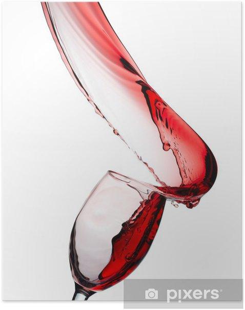 Poster Éclaboussures de vin rouge - Thèmes